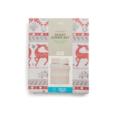 Christmas Fairisle Double Duvet Set